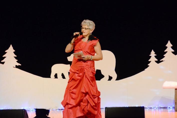 Yvette Leymarie, présentatrice