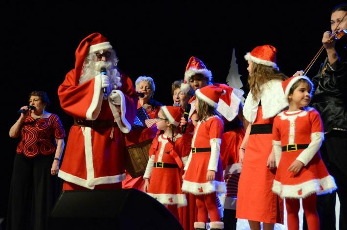 Les enfants et le père Noël